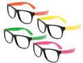Lenseless Party Glasses 12 PACK Assorted Colors 402