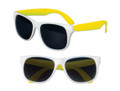 White Sunglasses Yellow  Legs 12 PACK Party Favor Quality 418