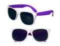 White Sunglasses Purple Legs 12 PACK Party Favor Quality 420