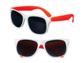 White Sunglasses Red Legs 12 PACK Party Favor Quality 421