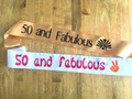 50th Birthday Sashes | Sashes for 50th Birthday Party | Satin |  (Fonts in Picture Gallery)