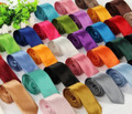 "Standard Satin Ties Wide 3.75"" 25+ Colors 12 PACK 1270W"