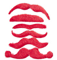 Red Mustaches | Stick on Mustaches |  12 PACK 1693RE