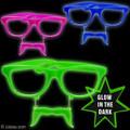 Mustache Sunglasses Glow in Dark Mixed 12 PACK