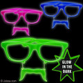 Mustache Sunglasses Glow in Dark Mixed 12 PACK