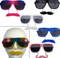 Mustache Shutter Shades Mustache Adult Sunglasses Mixed 12 Pack 7119M