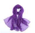 "Purple Long Sheer Chiffon Scarf 12 PACK  21"" x 60"" 2134PU"