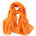 "Orange Long Sheer Chiffon Scarf 12 PACK  21"" x 60"" 2134OR"