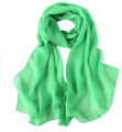 "Kelly Green Long Sheer Chiffon Scarf 12 PACK  21"" x 60"" 2134G"