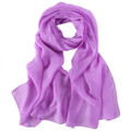 "Lavender Long Sheer Chiffon Scarf 12 PACK  21"" x 60"" 2134L"
