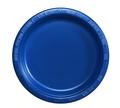 Blue 7-in. Plastic Dessert Plates, 12-ct. Packs 3856PB