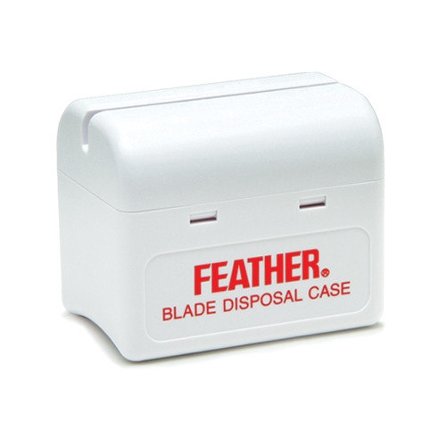 Feather Razor Blade Disposal Case