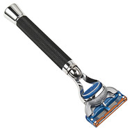 Parker Fusion Aggressive Grip Razor - black & chrome