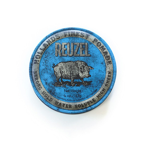 Reuzel BLUE Pomade -Strong Hold, High Sheen, Water-Based