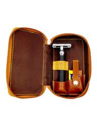 Parker Saddle Leather Razor Case LP4