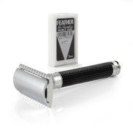 Edwin Jagger DE3DBC15bl Safety Razor - Black Chrome