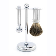 Edwin Jagger 3pc Chrome Lined DE Shaving Set