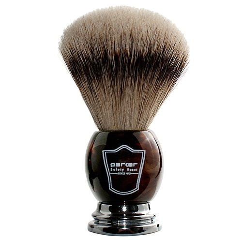 Parker HHST Silvertip Shaving Brush - Horn Handle
