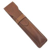 Parker Saddle Leather STRAIGHT Razor Case LPSTBRN
