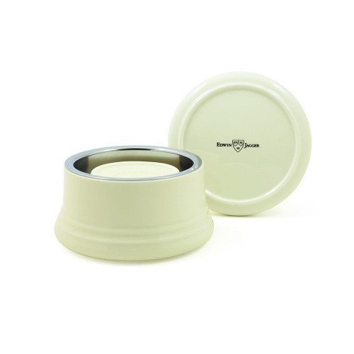 Edwin Jagger Ivory Porcelain Shaving Bowl with lid