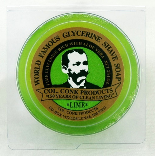 Col Conk Glycerin Shave Soap - Lime