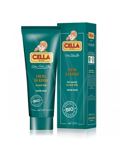 Cella Organic Aloe Vera Shaving Cream Tube