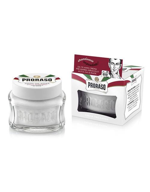 Proraso Pre & Post-shave Cream - Sensitive Skin (White) - 3.6 oz