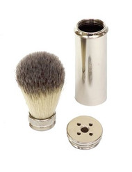 Synthetic Bristle Travel Shaving brush
