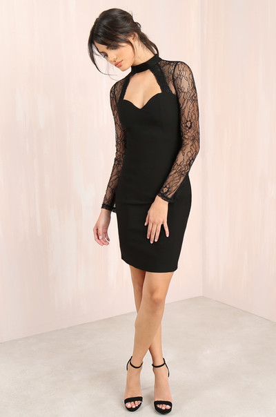 Lace Dance Dress - Black