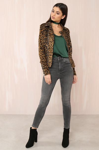 Cat Call Jacket - Leopard