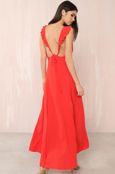Sunset  Stroll Dress - Red