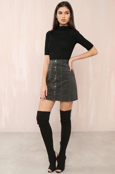 Leg Day Skirt - Black