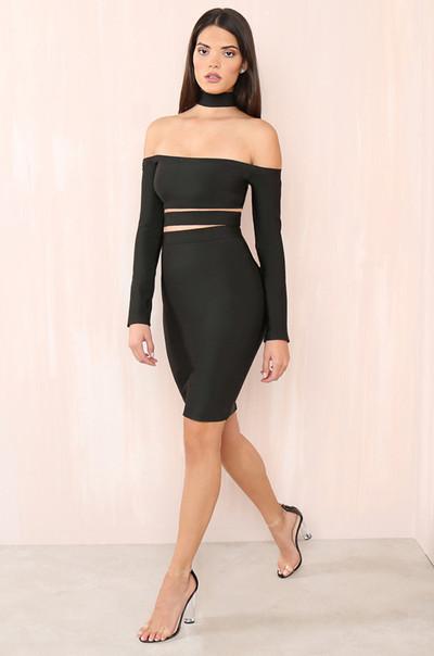 Touch My Body Dress - Black