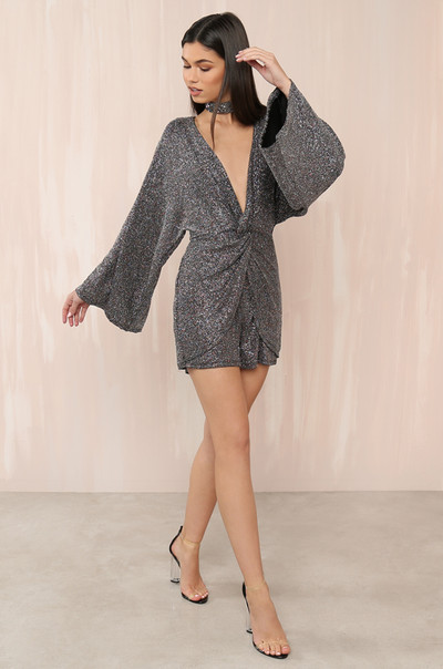 Silver Screen Romper - Multi Glitter