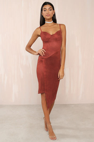 Get Me Bodied Dress - Rust