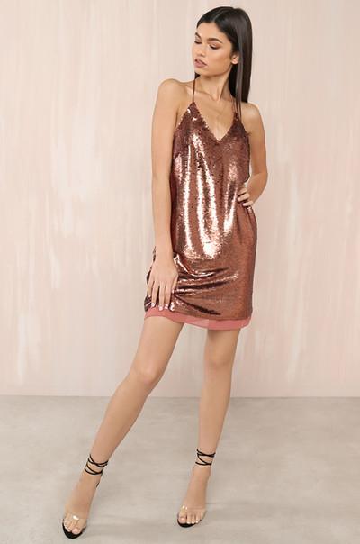 Glow Getter Dress - Rust