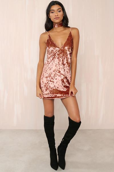 Such A Lush Dress - Mauve Velvet