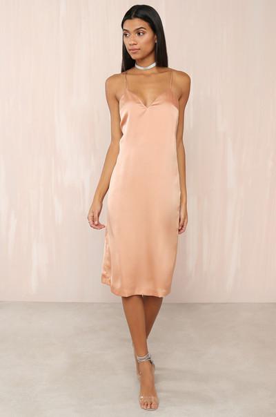 Let It Slip Dress - Blush