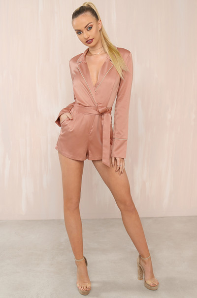 Eye Candy Romper - Rose