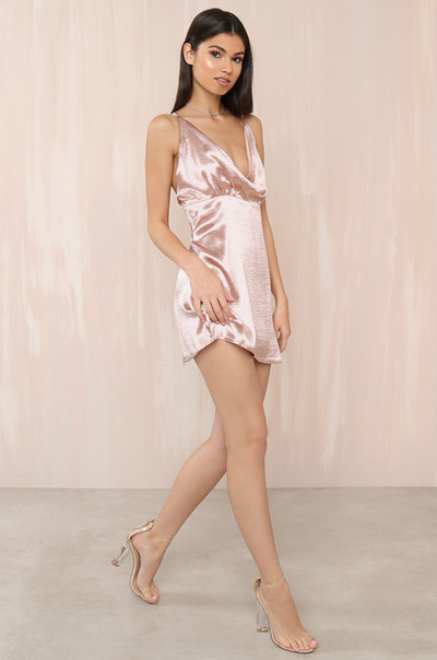 She's A Flirt Dress - Blush