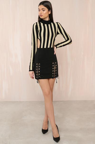 Wrap Star Skirt - Black