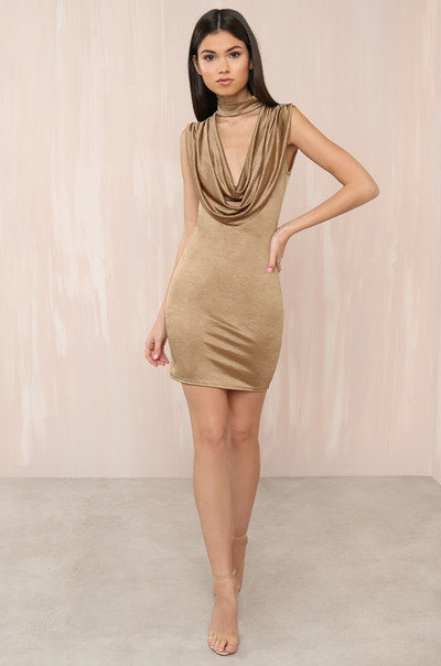 Glow With It Dress - Gold