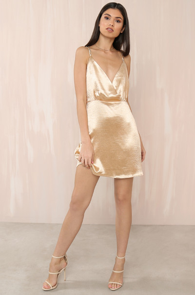She's A Flirt Dress - Champagne