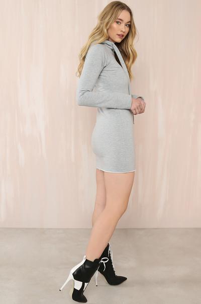 Curve 'Em Dress - Grey
