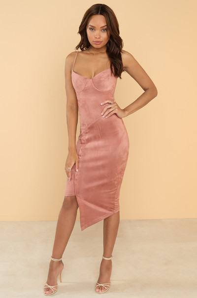 Get Me Bodied Dress - Mauve