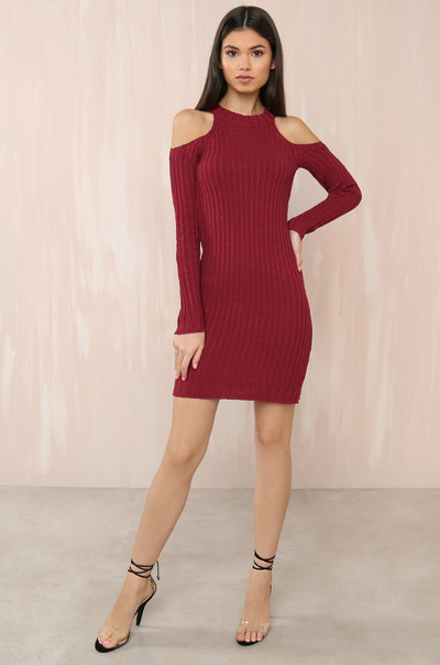 Brush It Off Dress - Red