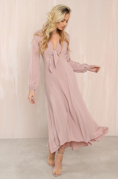 Roman-Chic Dress - Mauve