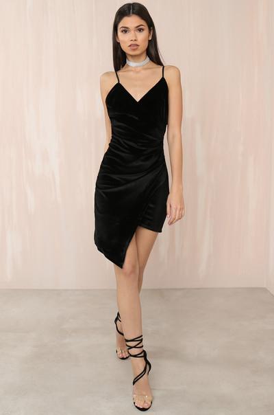 'Til Dawn Dress - Black Velvet