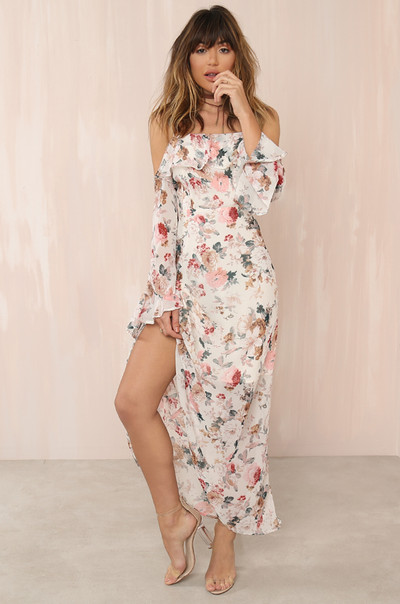 Fleur-Ever Dress - Nude Floral