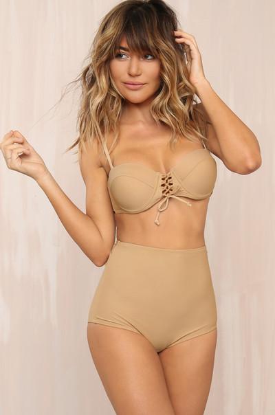 Dive In Bikini Set - Nude